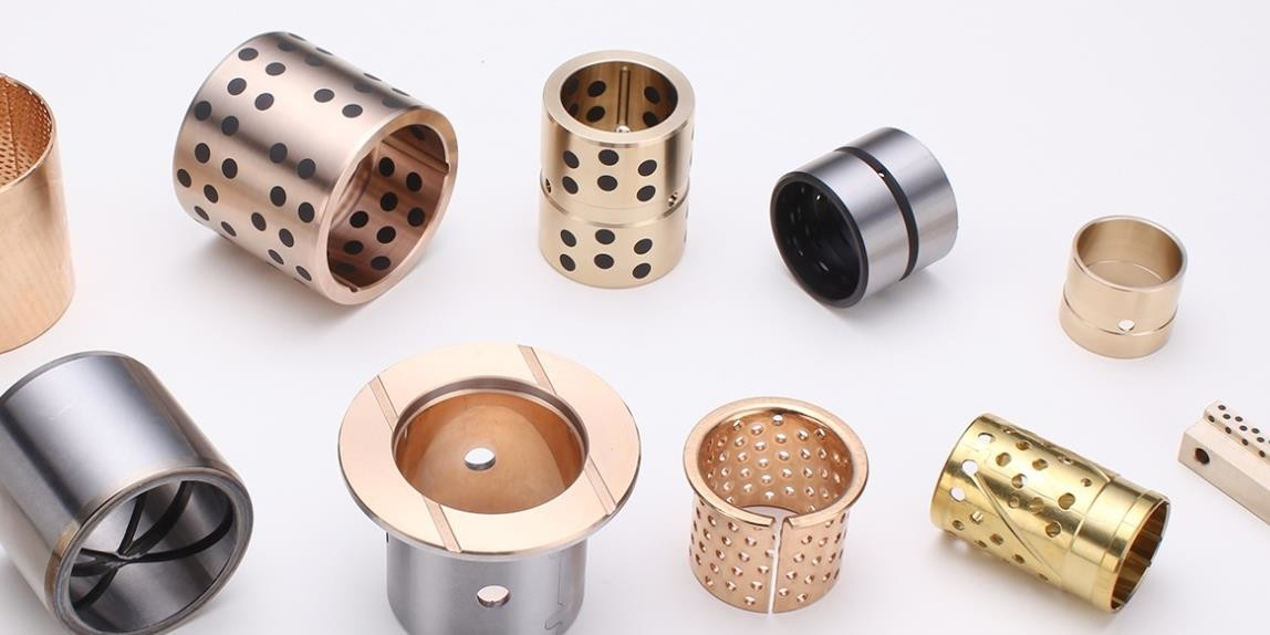 Cast Bronze Graphite Plugged Bronze Bushings | Oilless Bearings