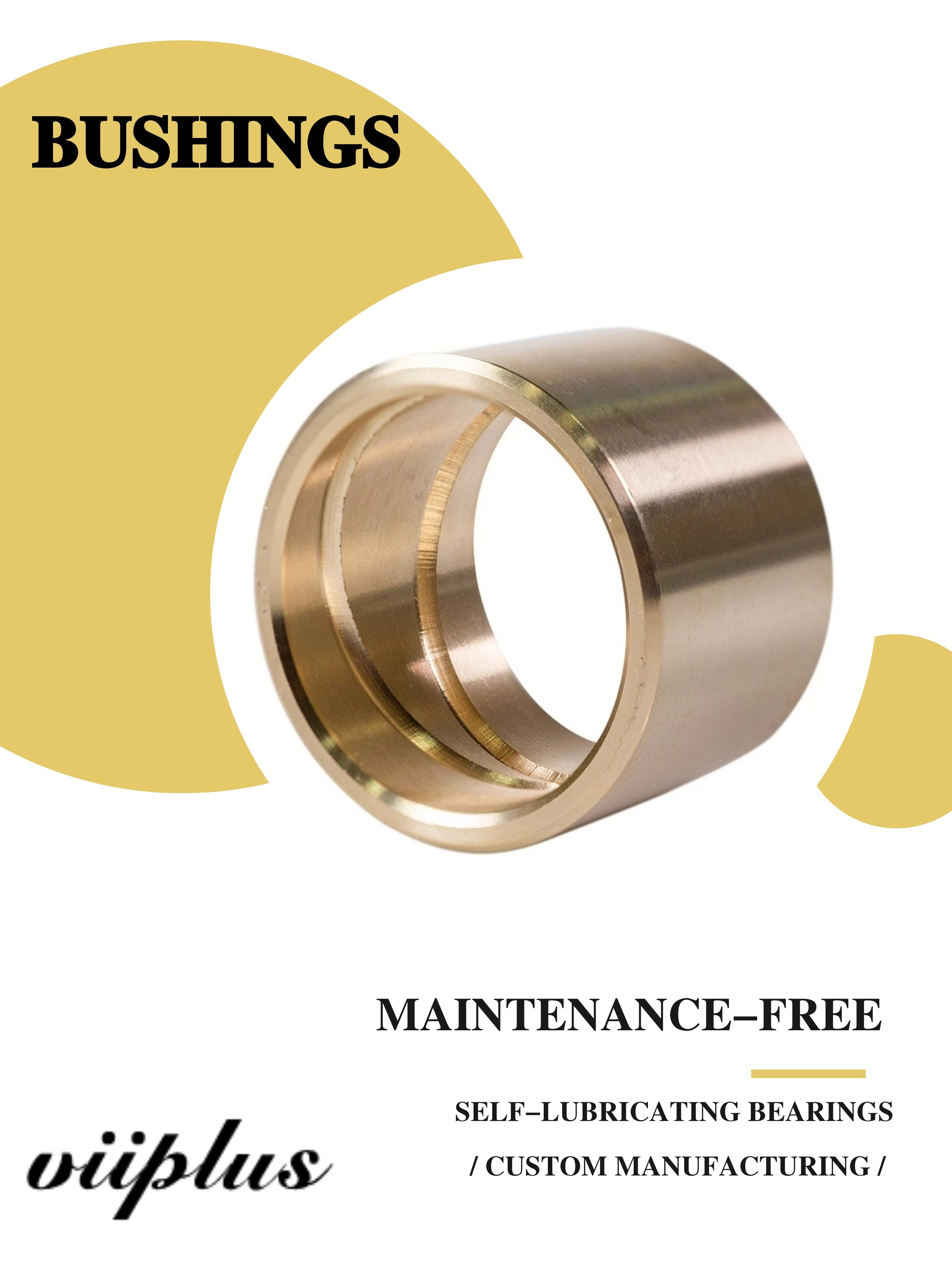 """greese grooves 1.5/"""" Brass bushing with id grooves"""