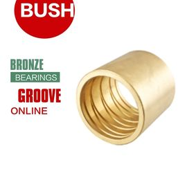 China Oil & Grease Sleeve Bushings A Full Range Of Groove Styles Flange Bronze Bearings factory