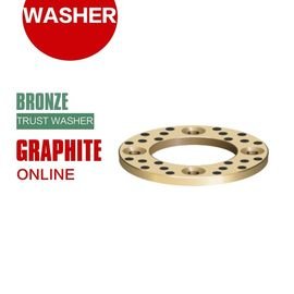 China Grooved Bronze Embedded Graphite Shaft Trust Washers & Gasket Long Life factory