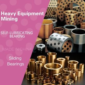 China Heavy Equipment / Mining MFG Bushes Tight Tolerance Precision Manganese Bronze Flanged Bronze Graphite Plugged Bushings factory