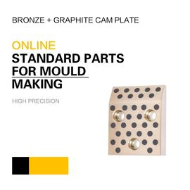 China Mould DME Standard Elements Bronze Graphite Cam Plate For Injection & Die Casting Moulds factory
