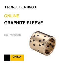 China Metric Bushings CuAl10Fe5Ni5 EN Casting Copper Alloy Bronze Sleeve Bearings Graphite Standard European Size factory