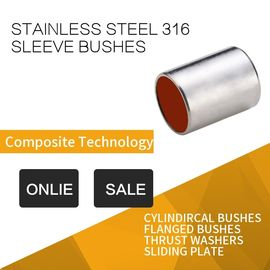 China 316 Stainless Steel Sleeve Bushing With Red Modified PTFE For Printing & Dyeing Machines factory