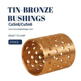China Tin Bronze DIN CuSn8 Flange Sleeve Bushings DIN ISO/3547,High Quality factory
