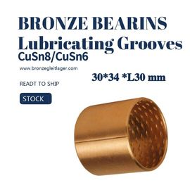 China Tin Bronze Sleeve Bushing BRM 30 - 34 L30 With Lubricating Grooves FB090 factory
