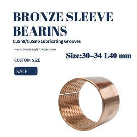 China Thin Wall Standard Tin Bronze Sleeve Bushing 30-34 L40  by Metric Size factory