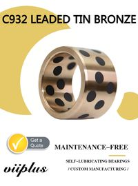 China Durable Large Bronze Sleeve Bearings & Bushing Bore Diameter C932 Tin Bronze,Graphite Plugged Bushing factory