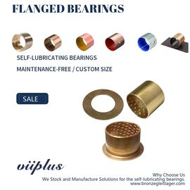 China CuSn8 Bronze Sleeve Flanged Bearings Diamond Indentations Or Stamped With Oil Grooves factory