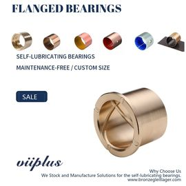 China Precision Flanged Groove Cast Bronze Bushings Spiral Inside Groove Bearings factory