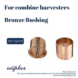 China Combine Harvesters Bronze Sleeve Bushings 50x53x40mm Id 12-100 Mm Longlife factory