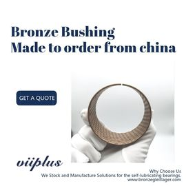 China Caliper Guides Repair Kit Bronze Sleeve Bushings , Flanged Bronze Bushings factory