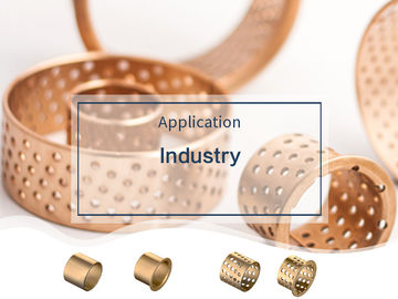China 50-55-40mm Metric Size Bronze Lube Bushing For Containers , Collar Bearing factory