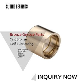 China Customzied Oil / Grease Groove Casting Bronze Sleeve & Flange Six To Eight Designs for Loaders factory
