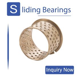 China FB090 & 092 Tin Bronze Flange Slide Bearing Dimensional Tolerance Bronze Bushing CuSn8P (DIN 17662) DIN 1494 / ISO 3547 factory