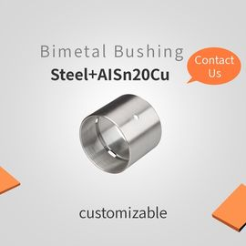 China Steel + AISn20Cu Customizable Bimetal Bearing Bushes , Composite Bearings factory