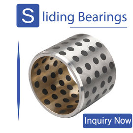 China Steel And Copper Inlaid Bronze Gleitlager Bearings For Metallurgical Machinery factory
