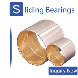 China Oilless Brass Bushing Cusn10pb10 Material European Standard Metric Size factory
