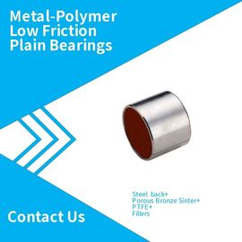 China Metal-Polymer Low Friction Plain Bearings,Steel back + Porous  Bronze Sinter + PTFE + Fillers factory