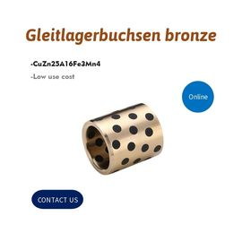 China Gleitlagerbuchsen Bronze Alloy Bronze Gleitlager Bushing With Graphite Inserted factory