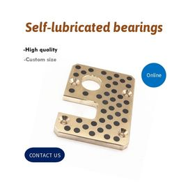 China Mould & Injection Copper Self Lube Wear Plates With Graphite Inlaid Bronze Bushings Retainers factory