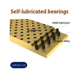 China Solid Bronze Self Lubricating Bearing | Graphite Slide Wear Plate factory