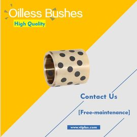China Oilless Bushes Plugged Graphite Bronze Straight & Flange Type factory