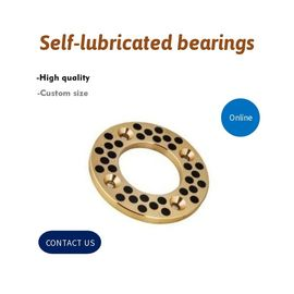China Gasket Cast Bronze Graphite Plugged Bronze Bushings | Oilless Bearings factory