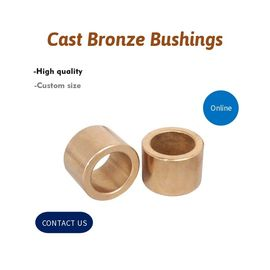 China OEM C86300 SAE 430B Manganese Bronze Straight & Flanged Bushing Cast Bronze Bushings Machined CNC Parts factory