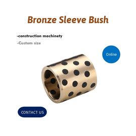 China Construction Excavators Bronze Sleeve Bushing High-Power Performance Plug Graphite C86300 SAE430B Inch Size factory