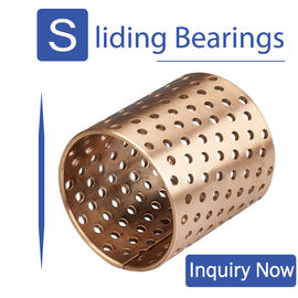 China Round Oil Hole Wrapped Bronze Bearings CuSn8 Material Cusn6.5p0.1 Material Available factory