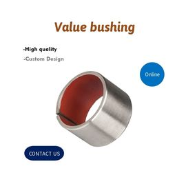 China Tin - Plated Steel / PTFE Dry Valve Bushing , Composite Sliding Bearing factory