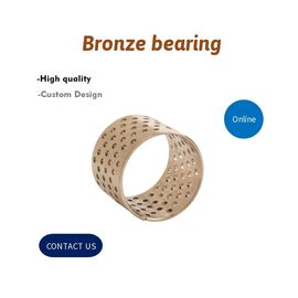 China Bronze Wrapped Plain Bearings CuSn8 With Lubricating Holes Cylindrical Self-Lubricated Bushings factory