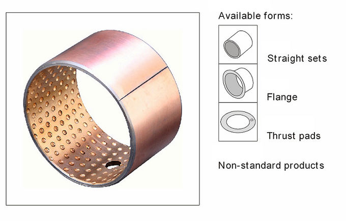 Bi-Metal Copper Flanged Sleeve Bearings & Washer Standard Inch Size Plain Bearings Oil Groove