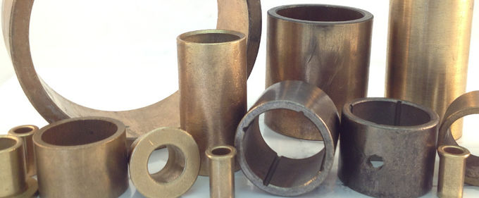 SAE 841 | Excavator Oil Impregnated Bushings , Sintered Bronze Flanged Sleeve Bearings