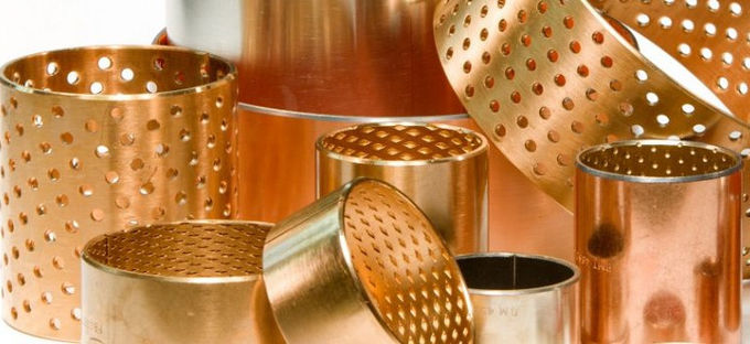 Rolled Bronze Perforated Bushings | CuSn8 Sliding Bushing Oil Perforations