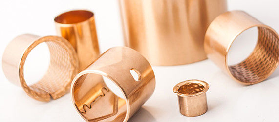 Multi-lubrication friction bearing in rolled CuSn8 bronze Sliding bush for Hydraulics