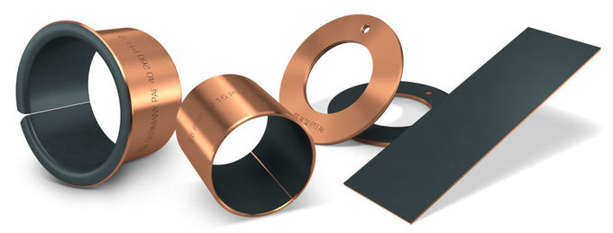 Low Maintenance Bronze Gleitlager DU PTFE Sleeve Bearing High Material Output